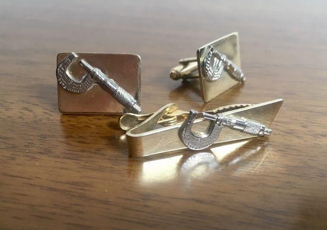 Прикраси запонки затискач для краватки мікрометр