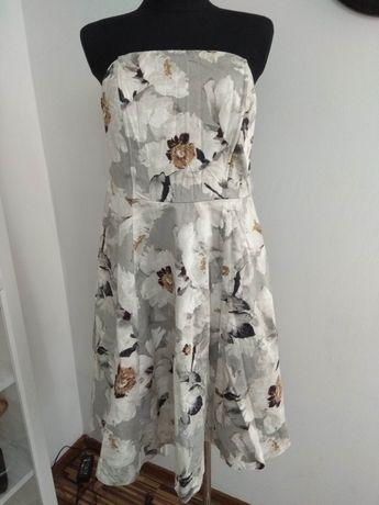 Sukienka damska bez ramion dla puszystej kwiaty KappAhl kolano L 44 46