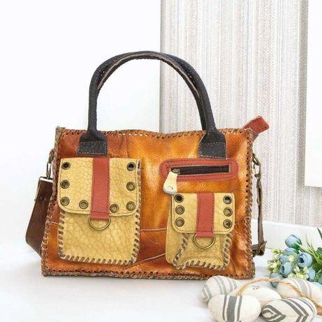 Кожаная сумка, love forever, натуральная кожа