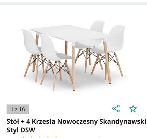 Stół i 3 krzesla