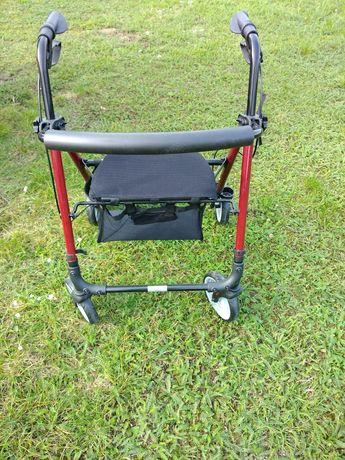 Podpórka rehabilitacyjna 4-kołowa, aluminiowa.