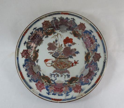 Prato Companhia das Índias Porcelana chinesa; Século XVII
