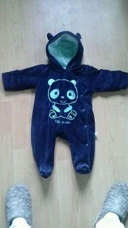 Kombinezon niemowlęcy panda Cool Club 62 cm z kapturem
