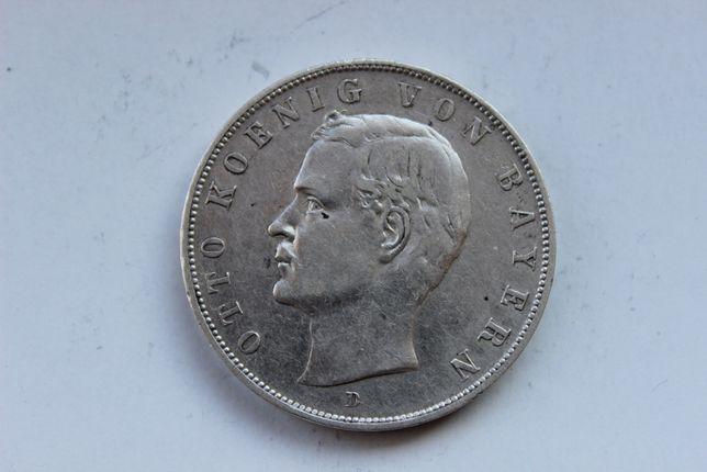 Пруссия 3 марки 1909 Бавария Серебро
