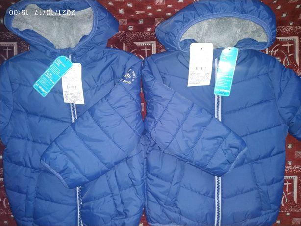 Куртка  нова тепла демісезонна, LC WAIKIKI, розмір 2-3, 3-4 роки