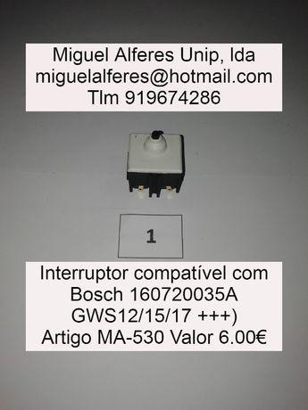 Interruptores Bosch e Dewalt