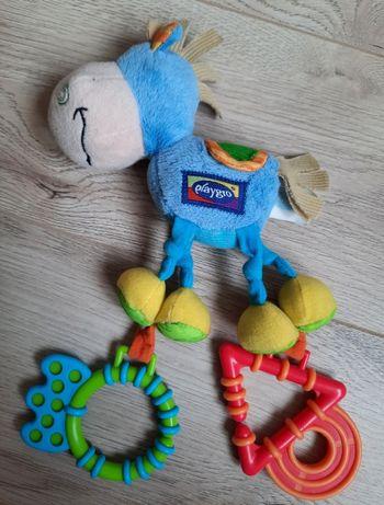 Подвеска текстильная игрушка с прорезывателем Playgro Пони от 0 мес.