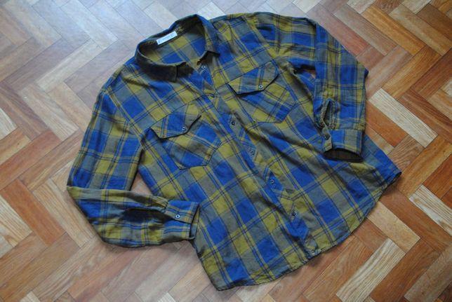 MANGO świetna bawełniana koszula M krata