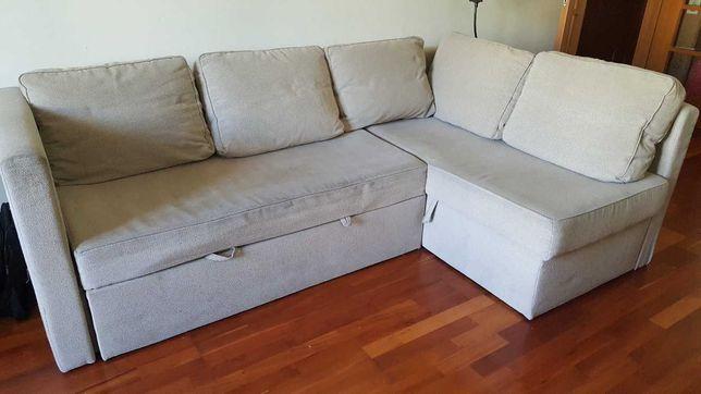 Sofá Cama com arrumação (Ikea) - Bom estado