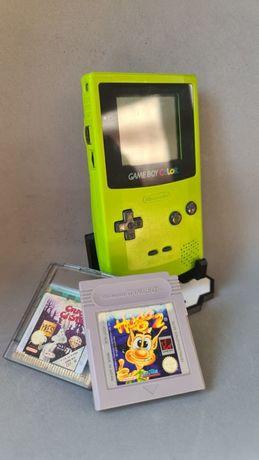 Game Boy Colour Verde + 2 Jogos