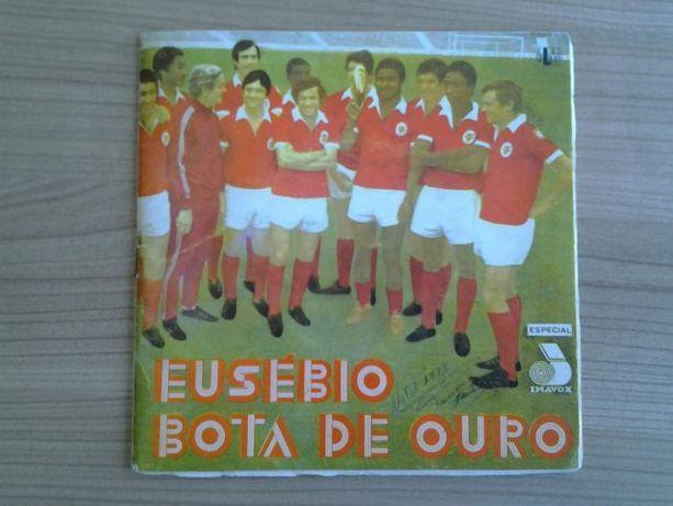 """Disco de vinil """"Eusebio Bota de Ouro"""" musicas do Benfica"""