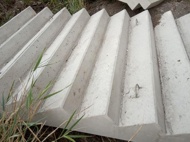 Schody betonowe (żelbetowe) prefabrykat- gotowe, na skarpy stawy it