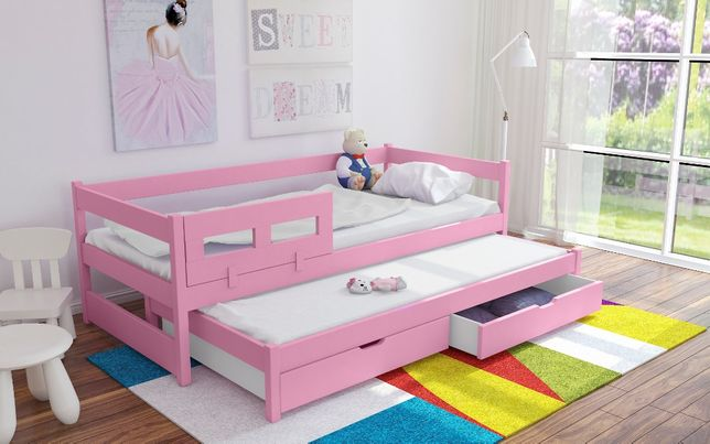 Podwójne łóżko TOMMY, wysuwane dolne spanie