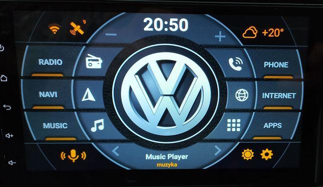Radio 2 DIN Android 9.1 GO RDS GPS Nawigacja WiFi Bluetooth Nowe