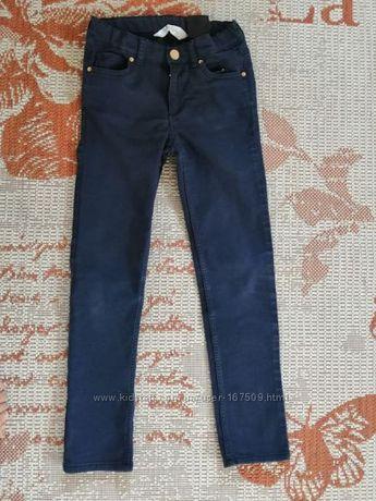 Сині котонові брюки h&m на 7-8 років