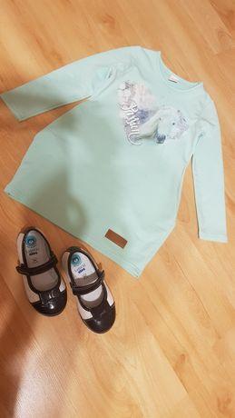 Komplet dla dziewczynki tunika Atut 110 i pantofelki Lasocki 25