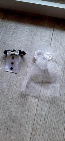 Dekoracja ślubna do kieliszków