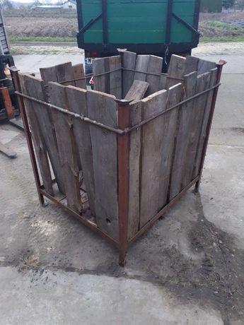 Skrzynipaleta kosz metalowy na warzywa klatka skrzynia metalowa deski