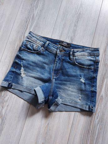 Sinsay krótkie spodenki r. S stan bdb jeans jeansowe