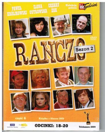 dvd RANCZO serial,tom 6 kolekcji,sezon 2,odcinki:18-20,nowe,zafoliowan