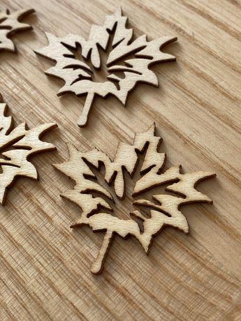 Klon liscie drewniane jesien montessori diy waldorf
