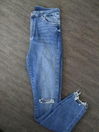 Jeansy spodnie H&M