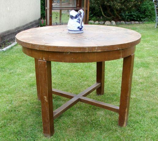 Stół okrągły zabytkowy antyk w stylu art deco