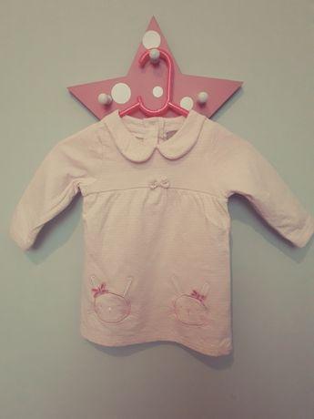 Nowa bawełniana sukienka niemowlęca rozmiar 62