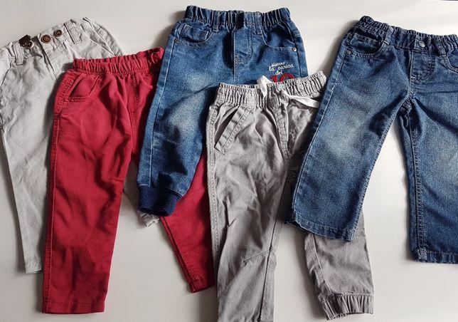 Zestaw spodnie jeansowe, joggery, rurki, na szelkach, Pepco, Lupilu