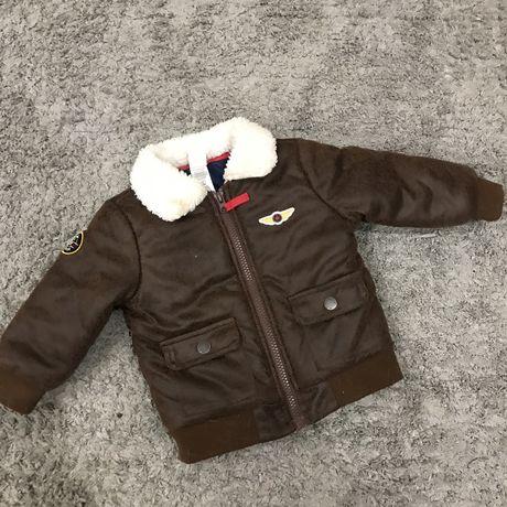 Куртка дубленка на мальчика 12 мес