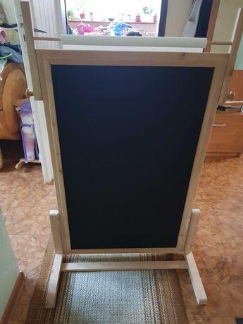 Drewniana Tablica Magnetyczna- stolik XXL dwustronna dla dzieci