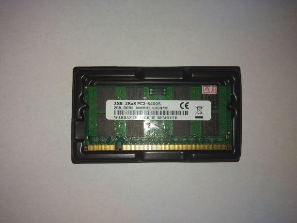ОЗУ для ноутбука SO-DIMM DDR2 PC2 2GB. Intel/AMD Новая
