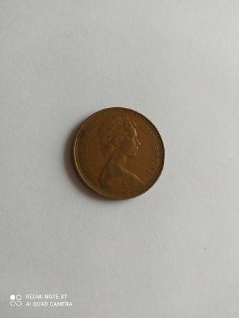Монета 2 New Pence 1971 р.