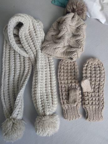 Komplet czapka szalik rękawiczki na zimę