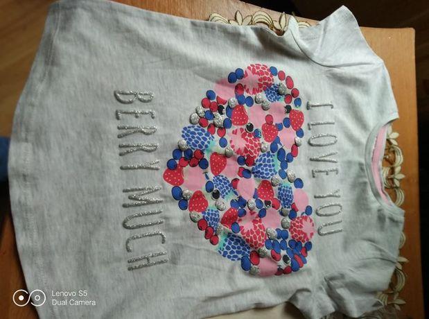 Bluzeczka na lato dla 6-7 letniej dziewczynki 100% bawelna.SUPER!