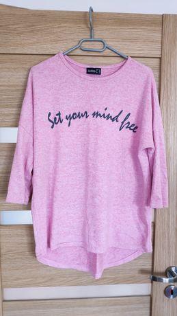 Bluzka sweterek oversize różowy