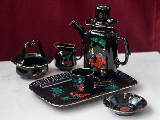 Черный чайный сервиз (кофейный набор) Коростенского завода — СССР