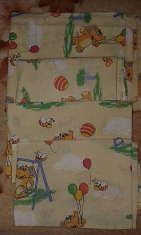 Набор детского постельного белья желтое Набір постільної білизни