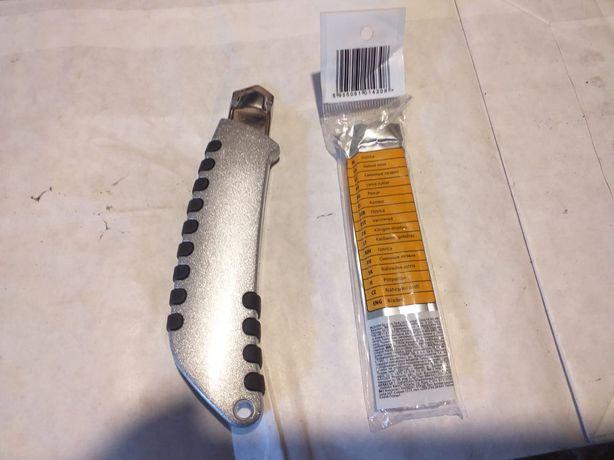 Nóż do tapet tapeciak nożyk plus paczka ostrzy nowe