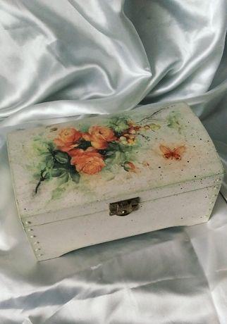 szkatułka pudełko skrzynka rękodzieło prezent