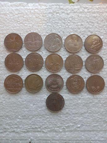 Юбилейные монеты СССР 1, 3 и 5 рублей