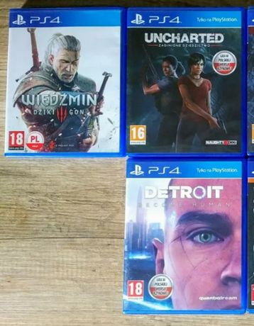 Gry PS4 - Uncharted 3, Detroit Become Human - dubbing PL