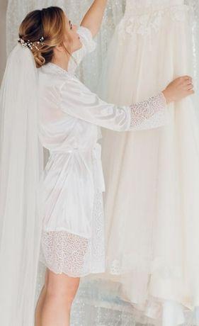 Халатик для весільної фотосесії ( пенюар)