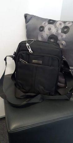 Nowa torba męska na ramię do pracy na co dzień na wycieczkę czarna