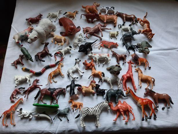 Zwierzęta farma zoo figurki 55szt