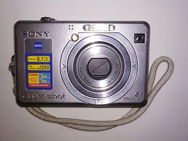 Цифровой фотоаппарат Sony Cyber Shot DSC-W100 +карта памяти 1гб
