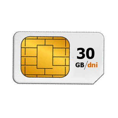 Internet 30 GB minuty SMSy no limit Karta SIM Europa EU Roaming