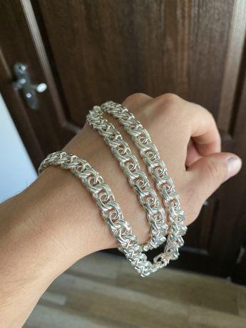 Серебряная цепочка МОСКВИЧ 88 грамм