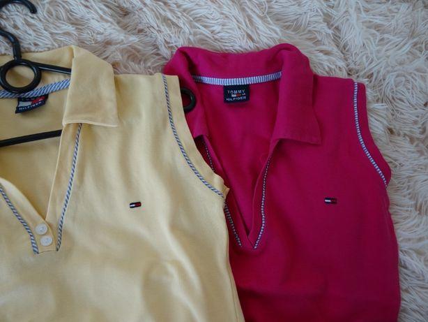 bluzka, koszulka, TOMMY HILFIGER, ogo na piersi