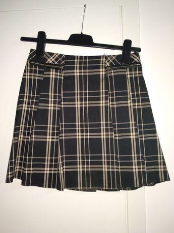 Spódnica mini r 34 krata plisowana